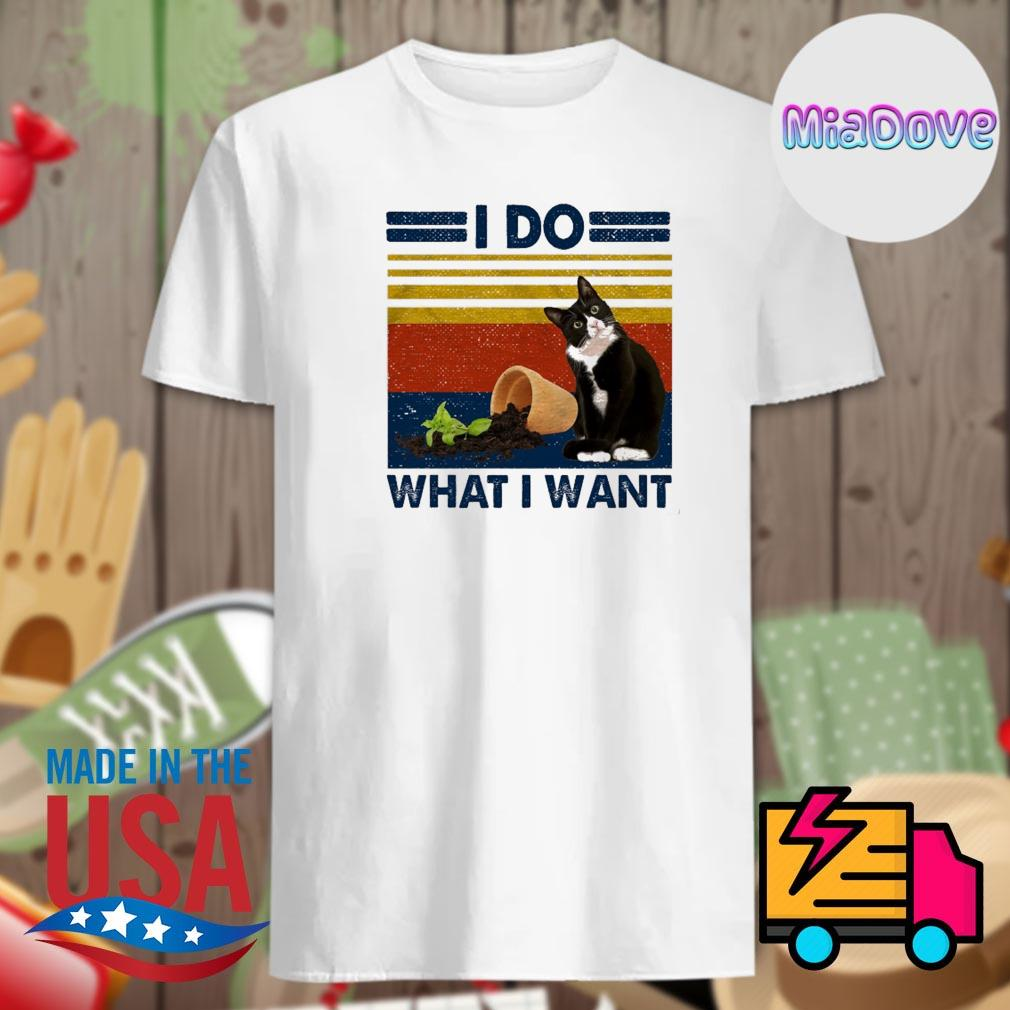 Cat flower stand I do what I want vintage shirt
