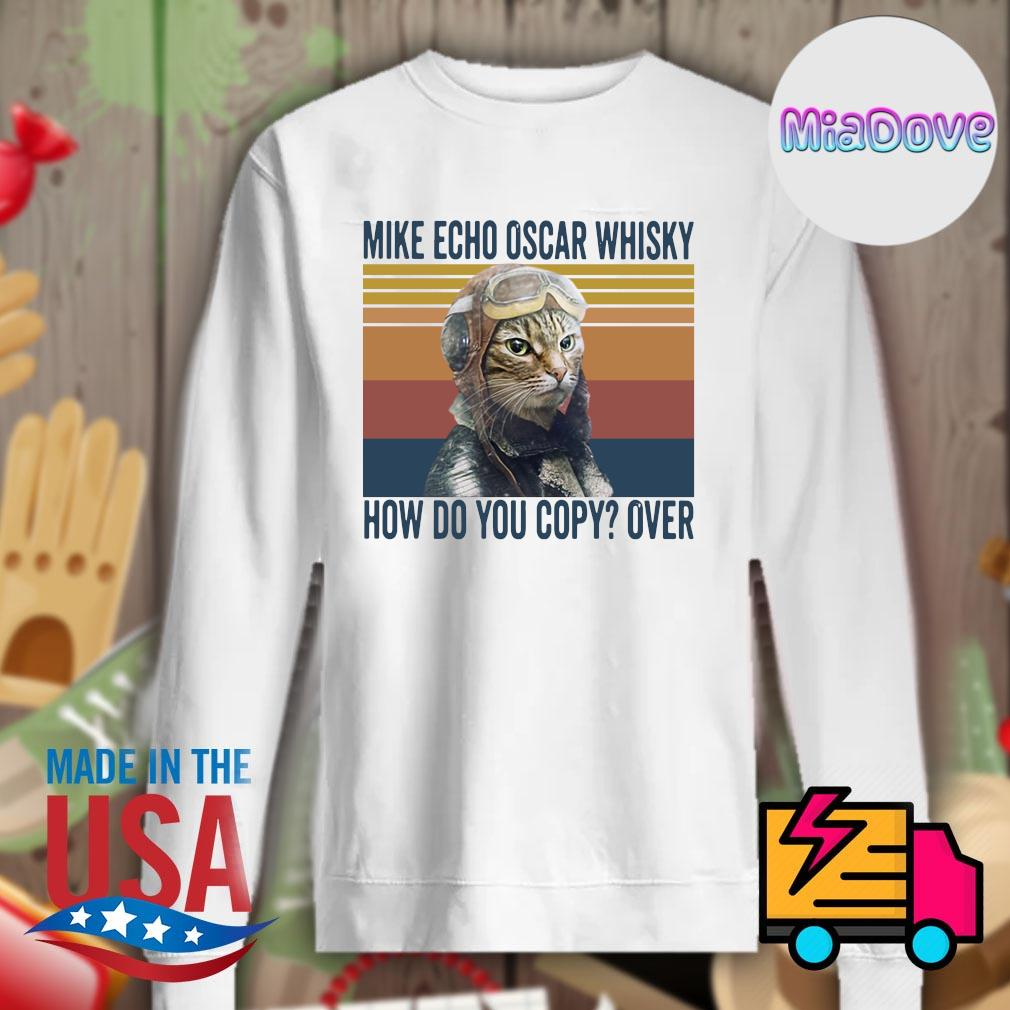 Cat mike echo oscar whisky how do you copy over vintage s Sweater