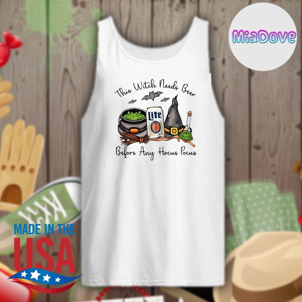 Halloween This Witch needs Lite beer before any Hocus Pocus s Tank-top