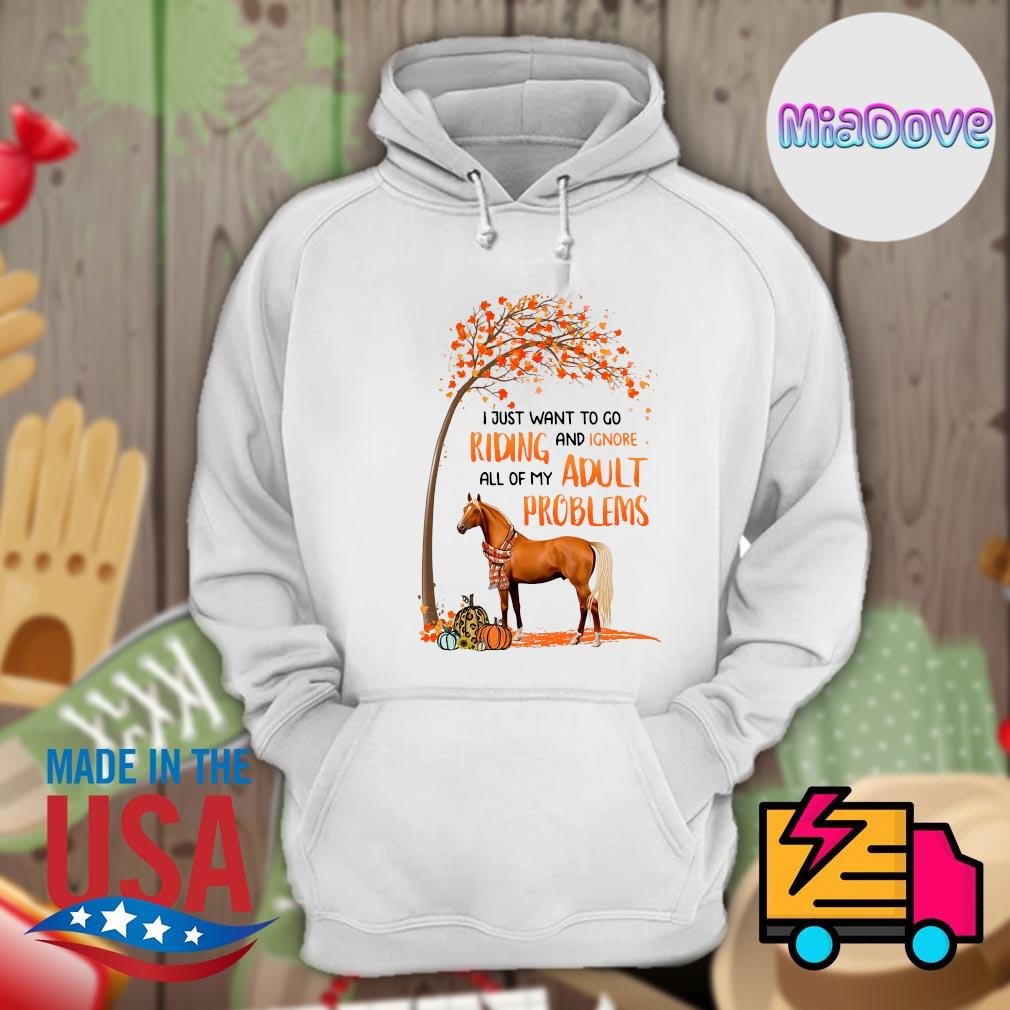 Horse tree Halloween I just want to go riding and ignore all of my adult problems s Hoodie