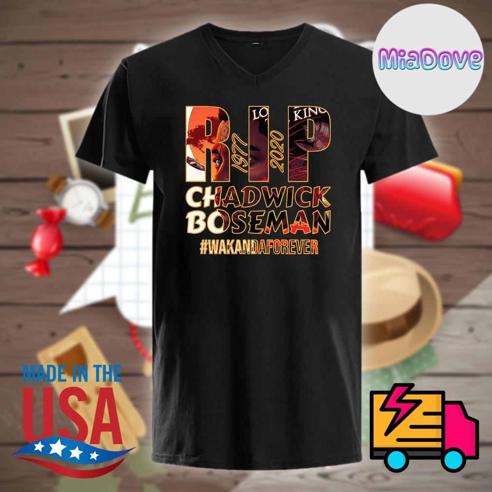 RIP Hollywood King Chadwick Boseman 1977 2020 Wakanda forever shirt