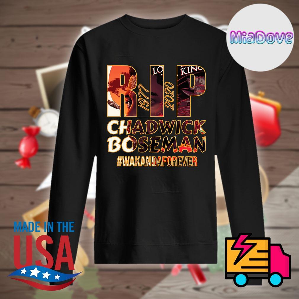 RIP Hollywood King Chadwick Boseman 1977 2020 Wakanda forever s Sweater