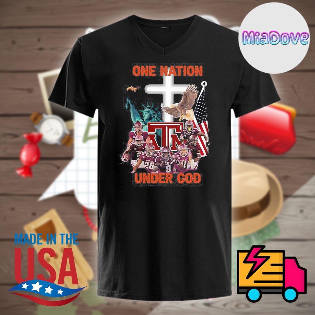 Texas A&M Aggies one nation under God shirt