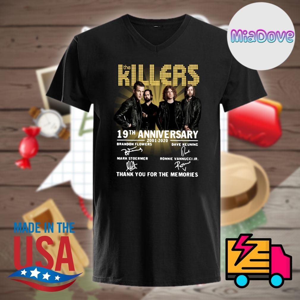 The Killers 19th anniversary 2001 2020 signatures thank you for the memories shirt