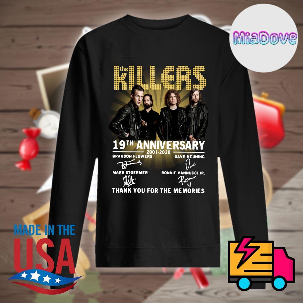 The Killers 19th anniversary 2001 2020 signatures thank you for the memories s Sweater