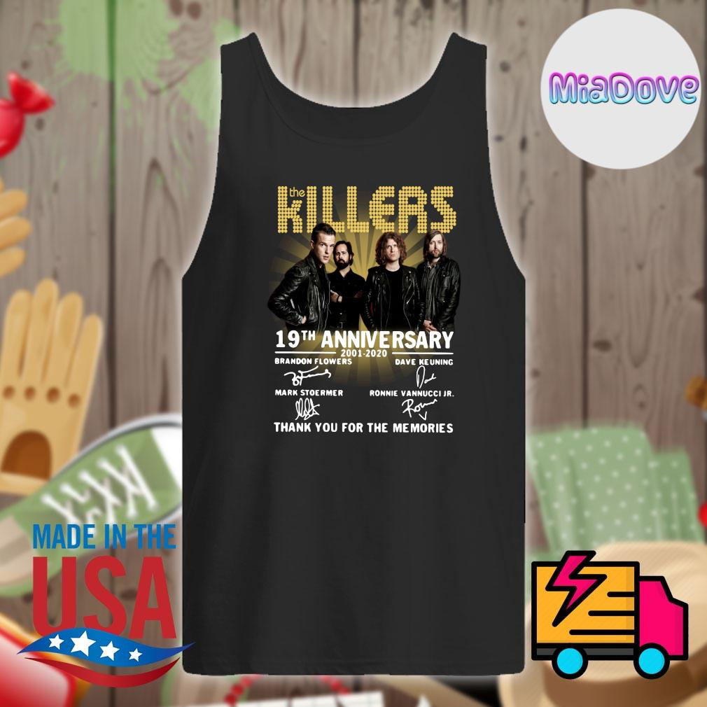 The Killers 19th anniversary 2001 2020 signatures thank you for the memories s Tank-top