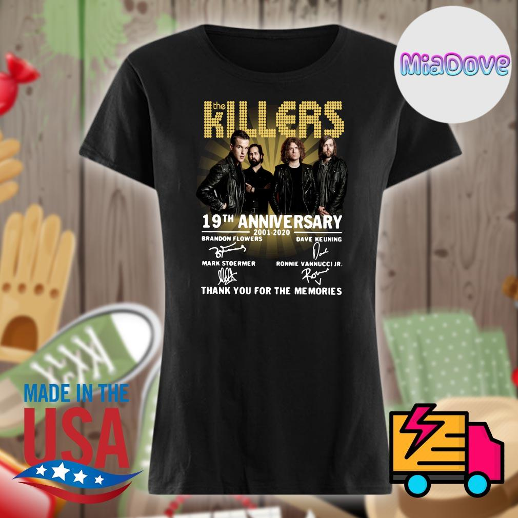 The Killers 19th anniversary 2001 2020 signatures thank you for the memories s V-neck
