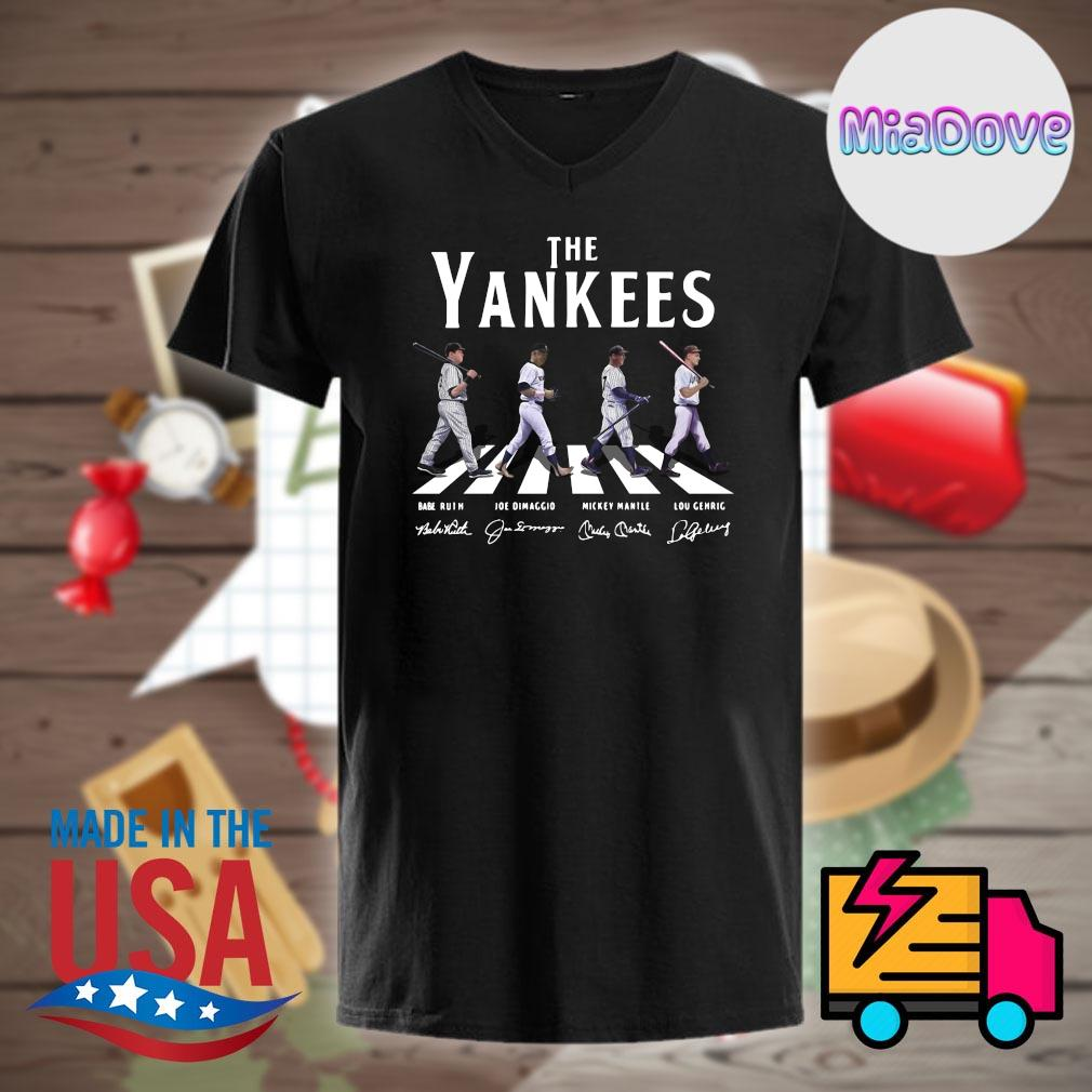 The New York Yankees abbey road signatures shirt