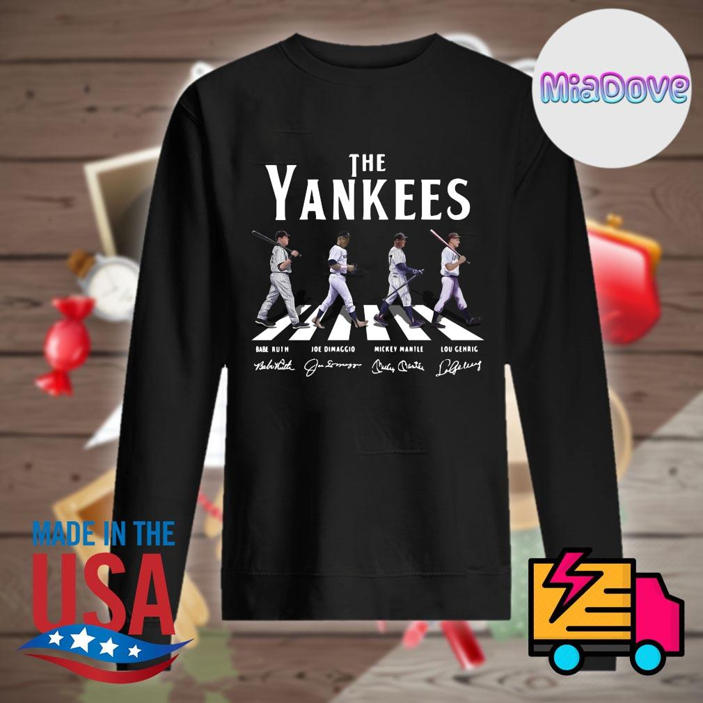 The New York Yankees abbey road signatures s Sweater