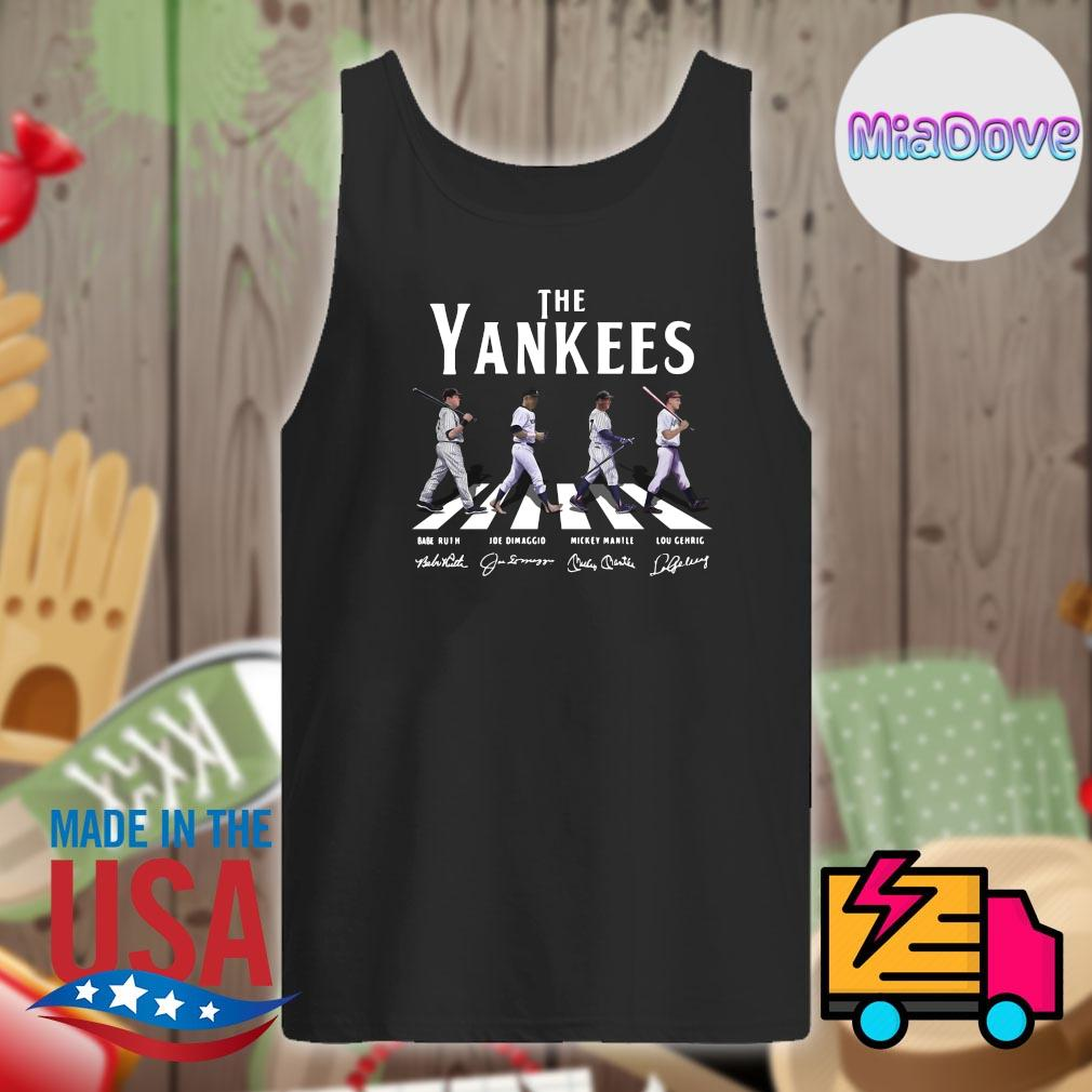 The New York Yankees abbey road signatures s Tank-top