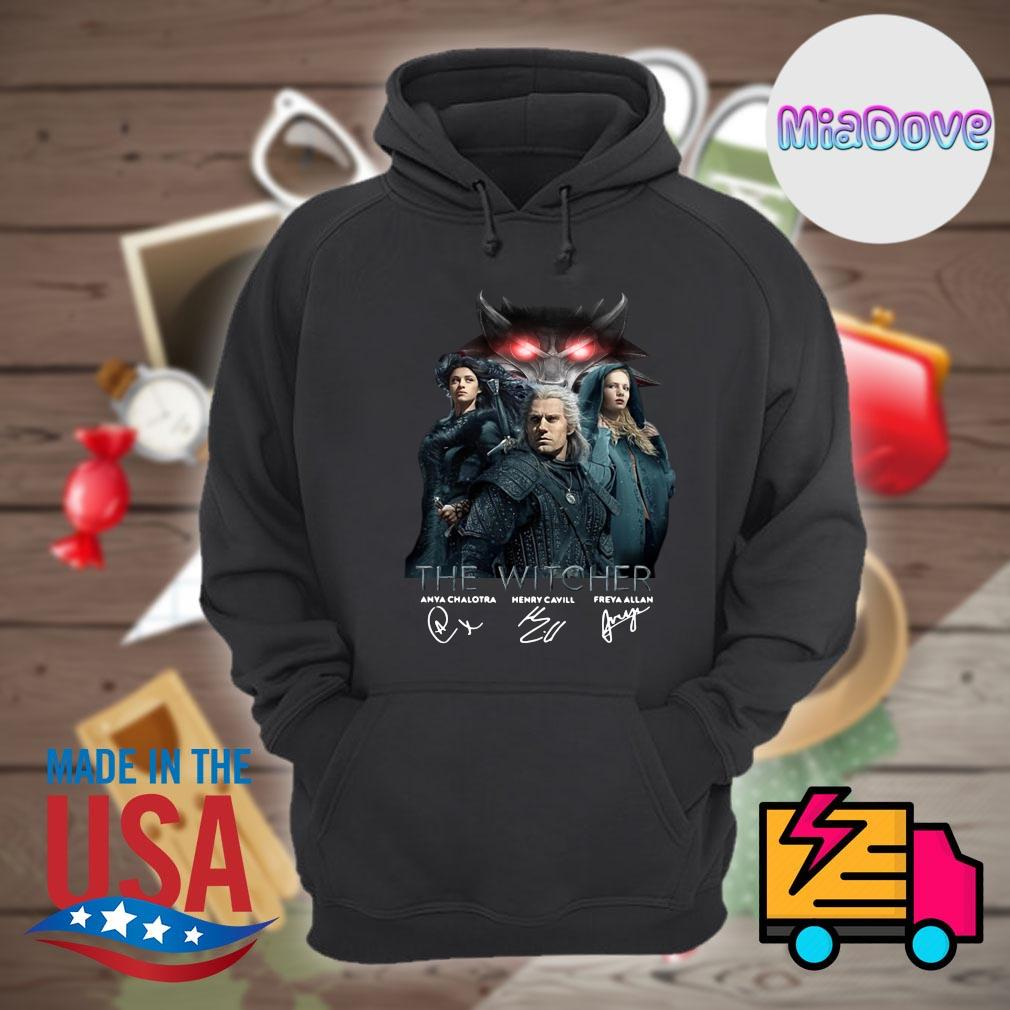 The Witcher Anya Chalotra Henry Cavill Freya Allan signatures s Hoodie