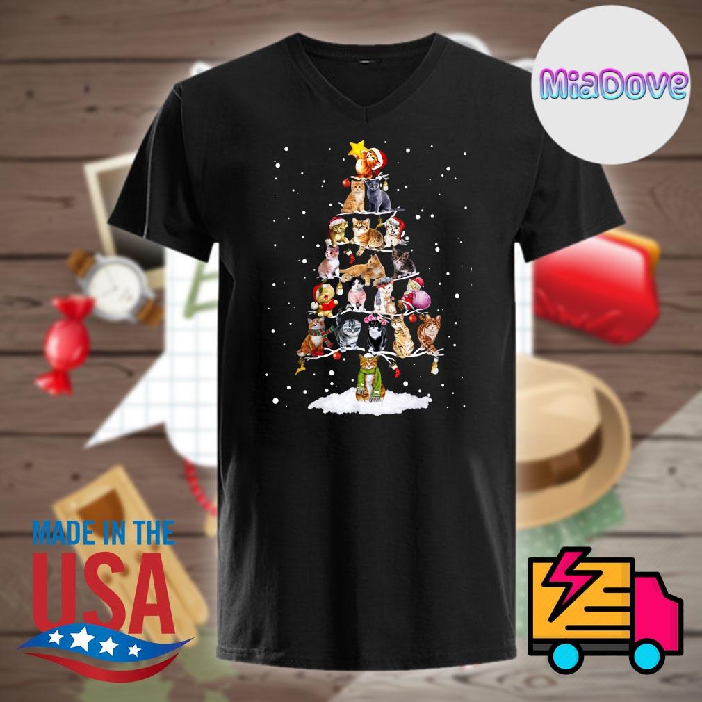 Cats Christmas tree shirt