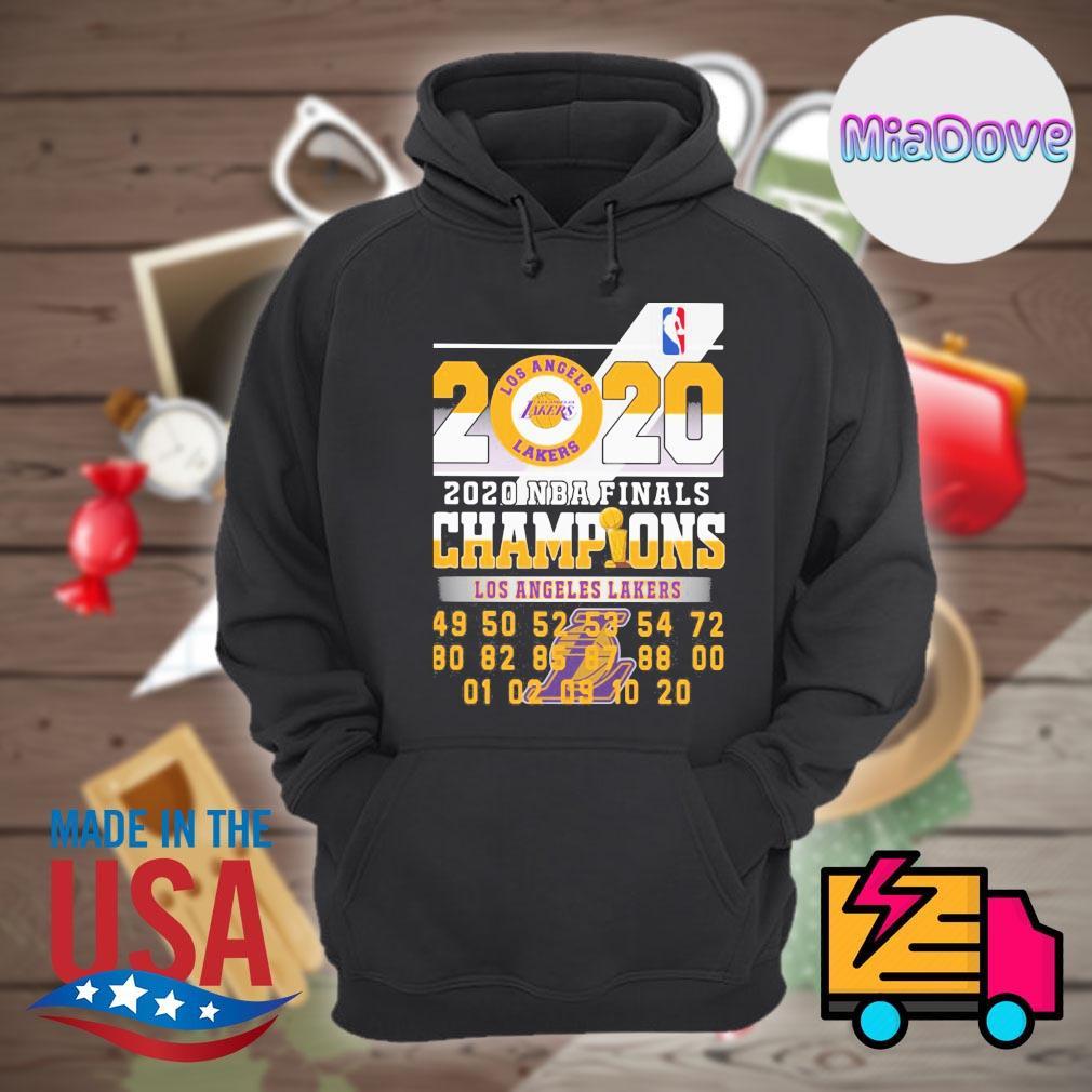 Los Angeles Lakers 2020 NBA finals Champions s Hoodie