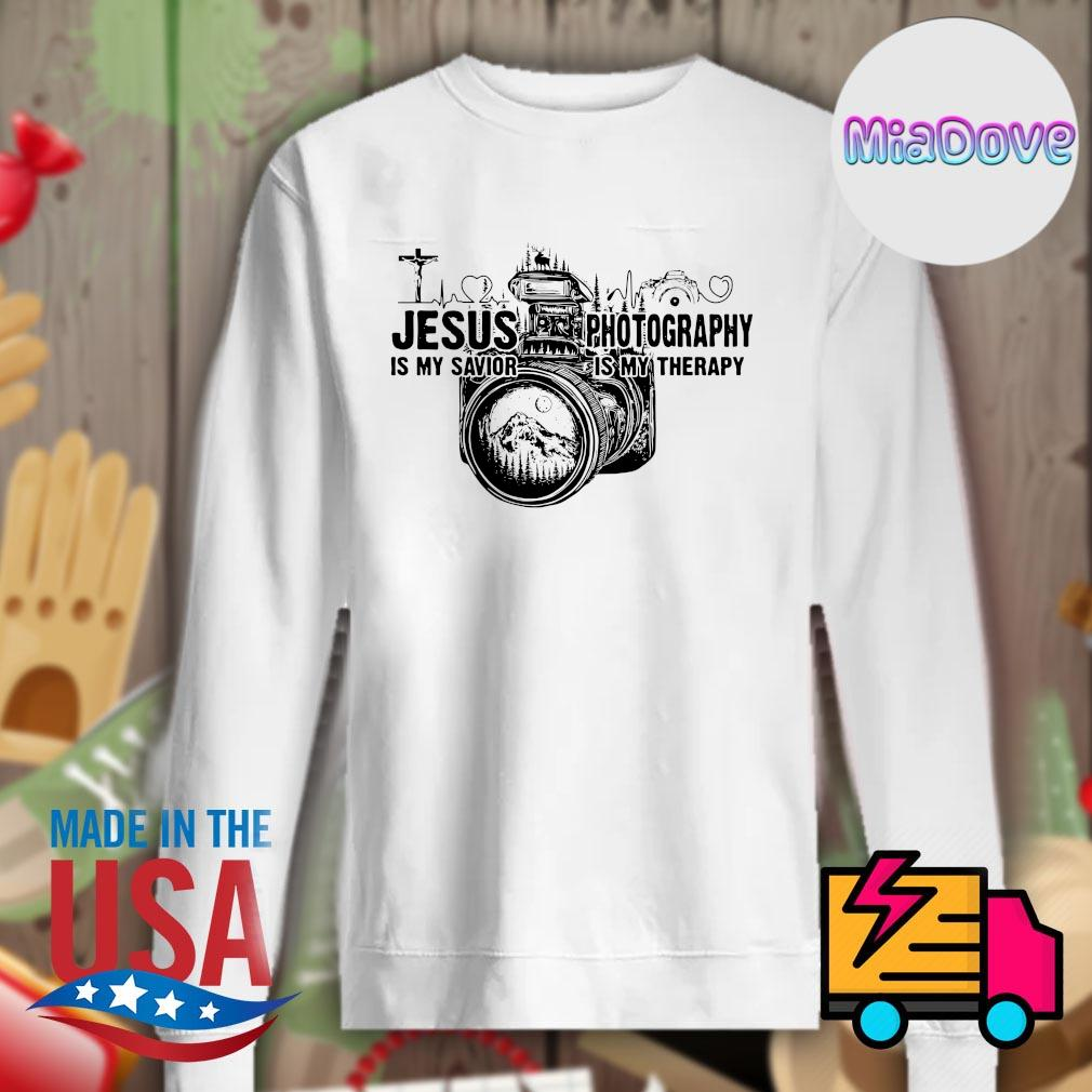 Jesus is my savior Photography is my therapy s Sweater