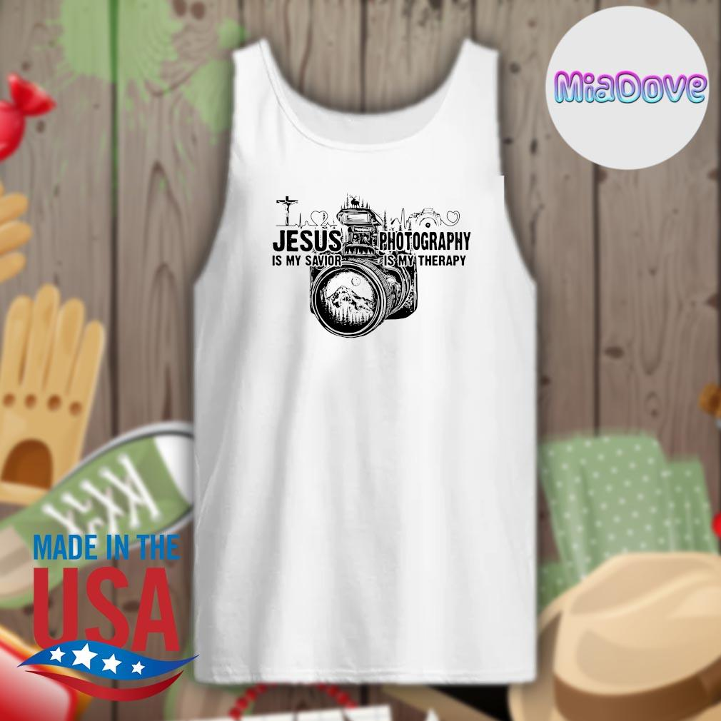 Jesus is my savior Photography is my therapy s Tank-top