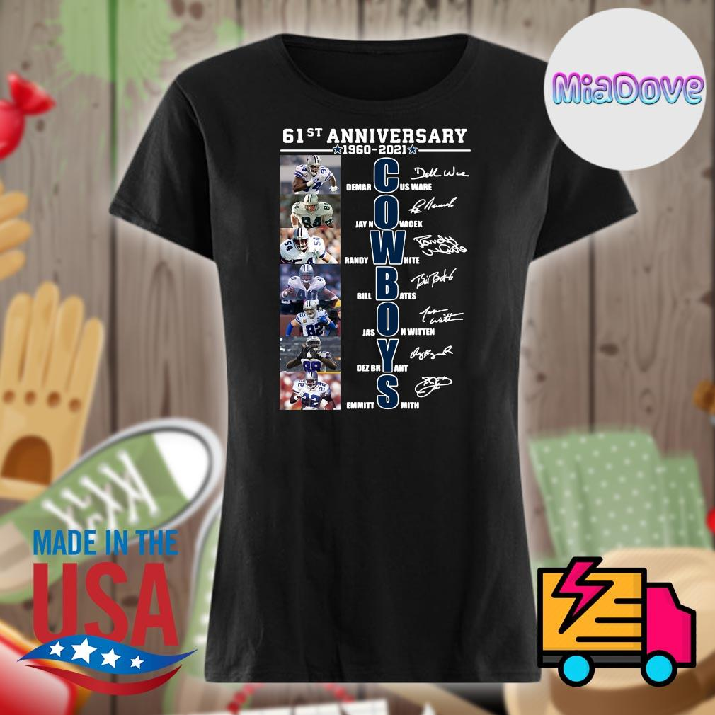 Cowboys 61st anniversary 1960 2021 players signatures s V-neck