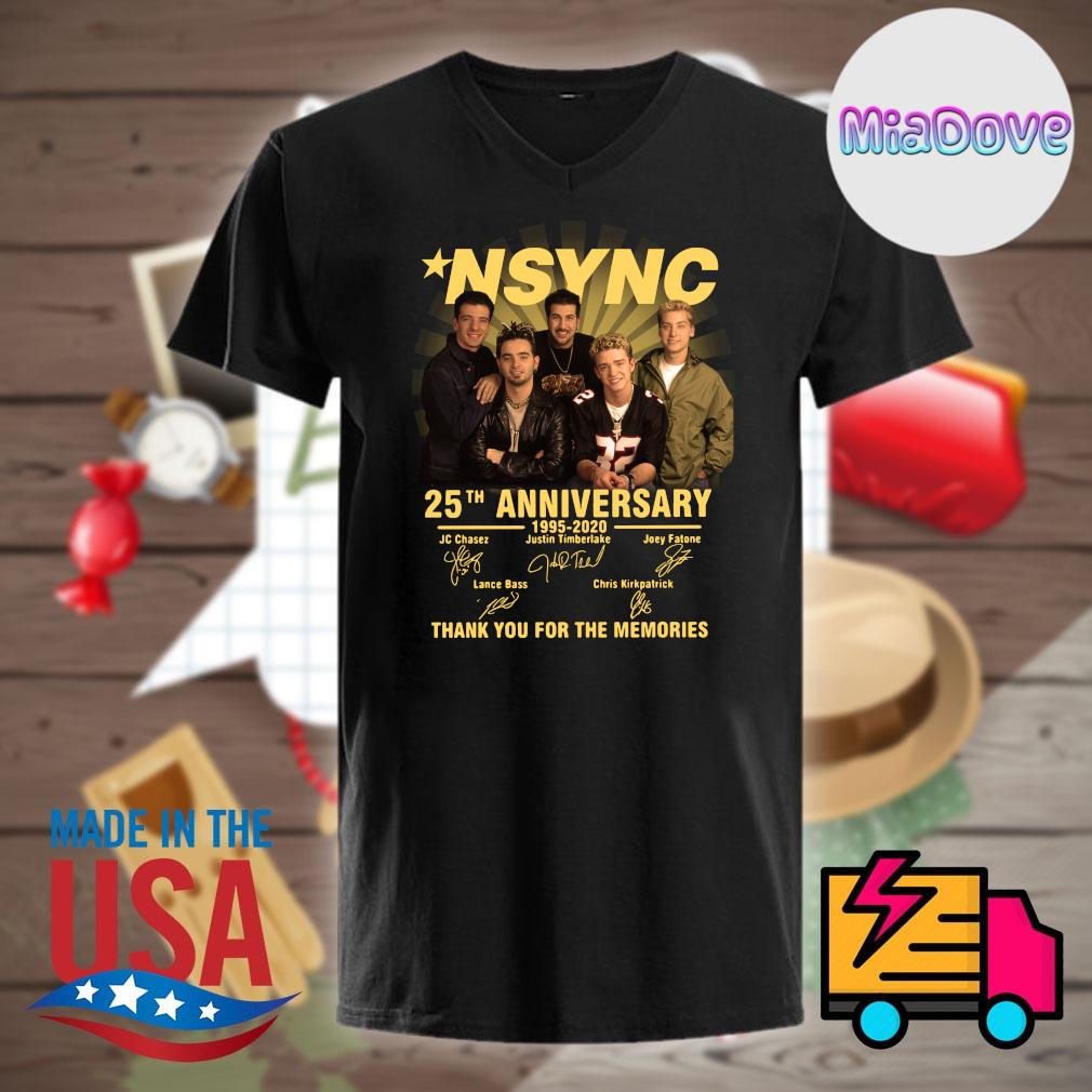 NSYNC 25th anniversary 1995 2020 signatures thank you for the memories shirt