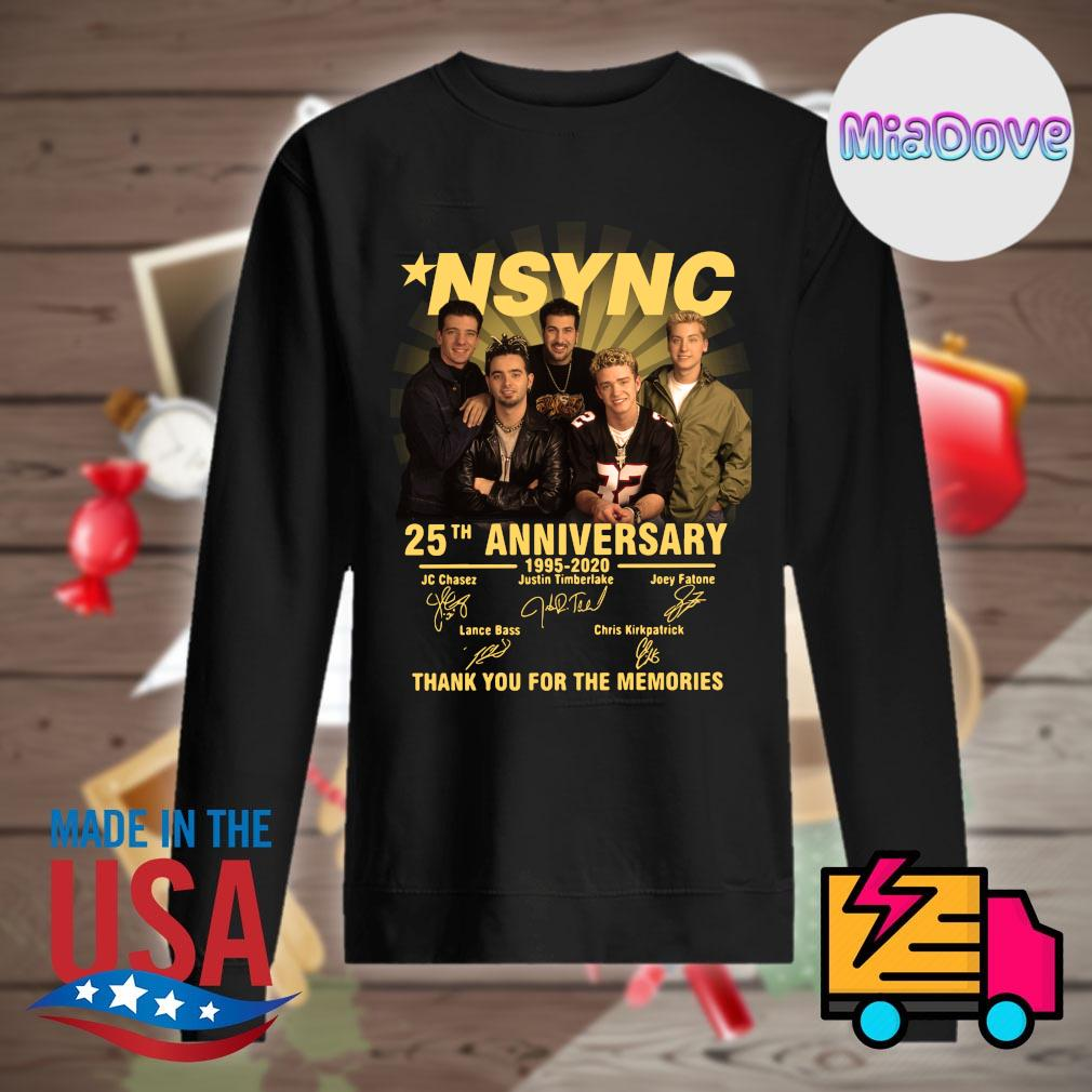NSYNC 25th anniversary 1995 2020 signatures thank you for the memories s Sweater
