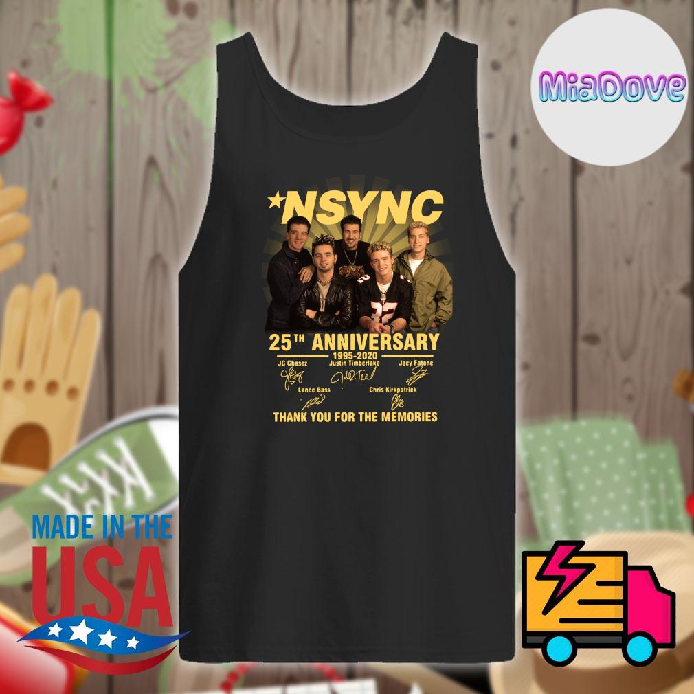 NSYNC 25th anniversary 1995 2020 signatures thank you for the memories s Tank-top