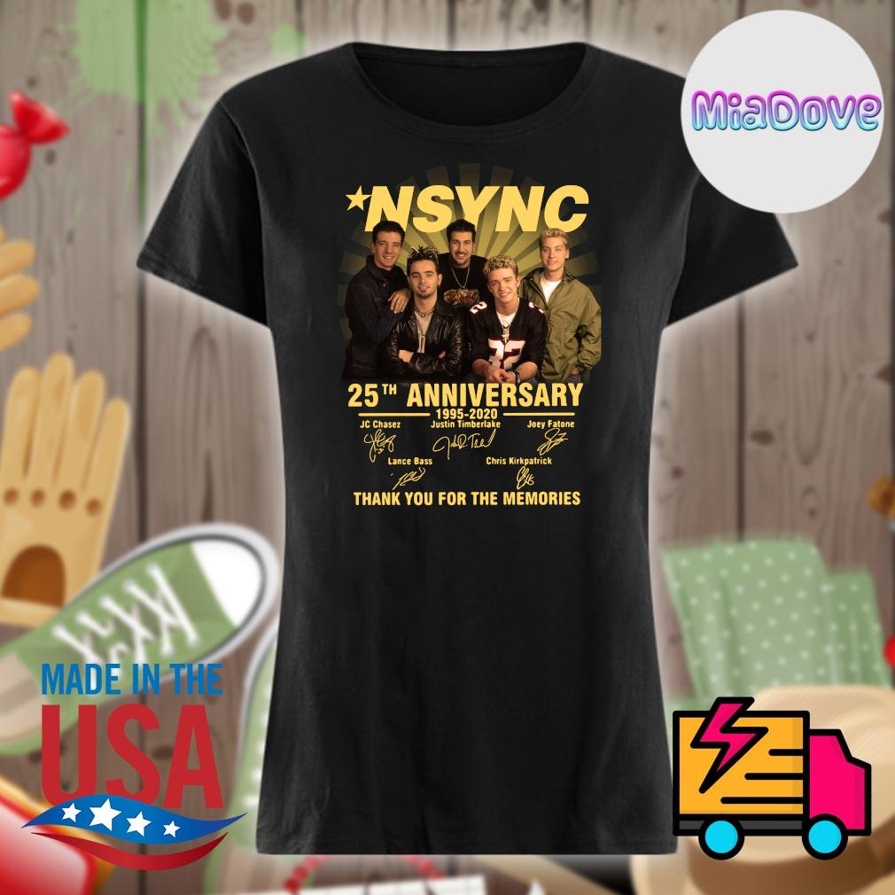 NSYNC 25th anniversary 1995 2020 signatures thank you for the memories s V-neck