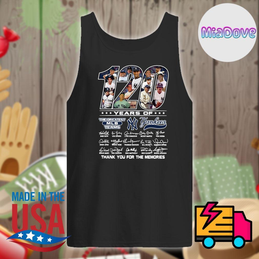 120 years of Yankees players signatures thank you for the memories s Tank-top