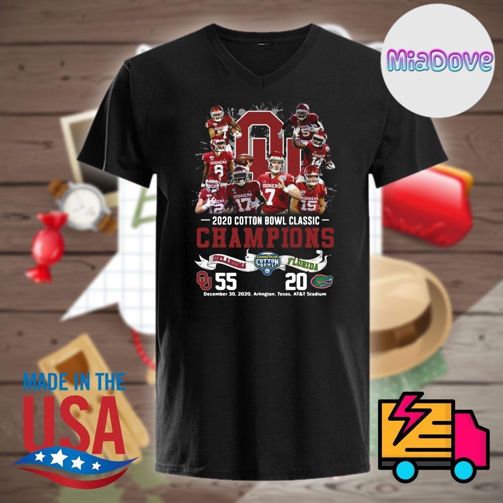 2020 cotton bowl classic Champions Oklahoma 55 Florida 20 shirt