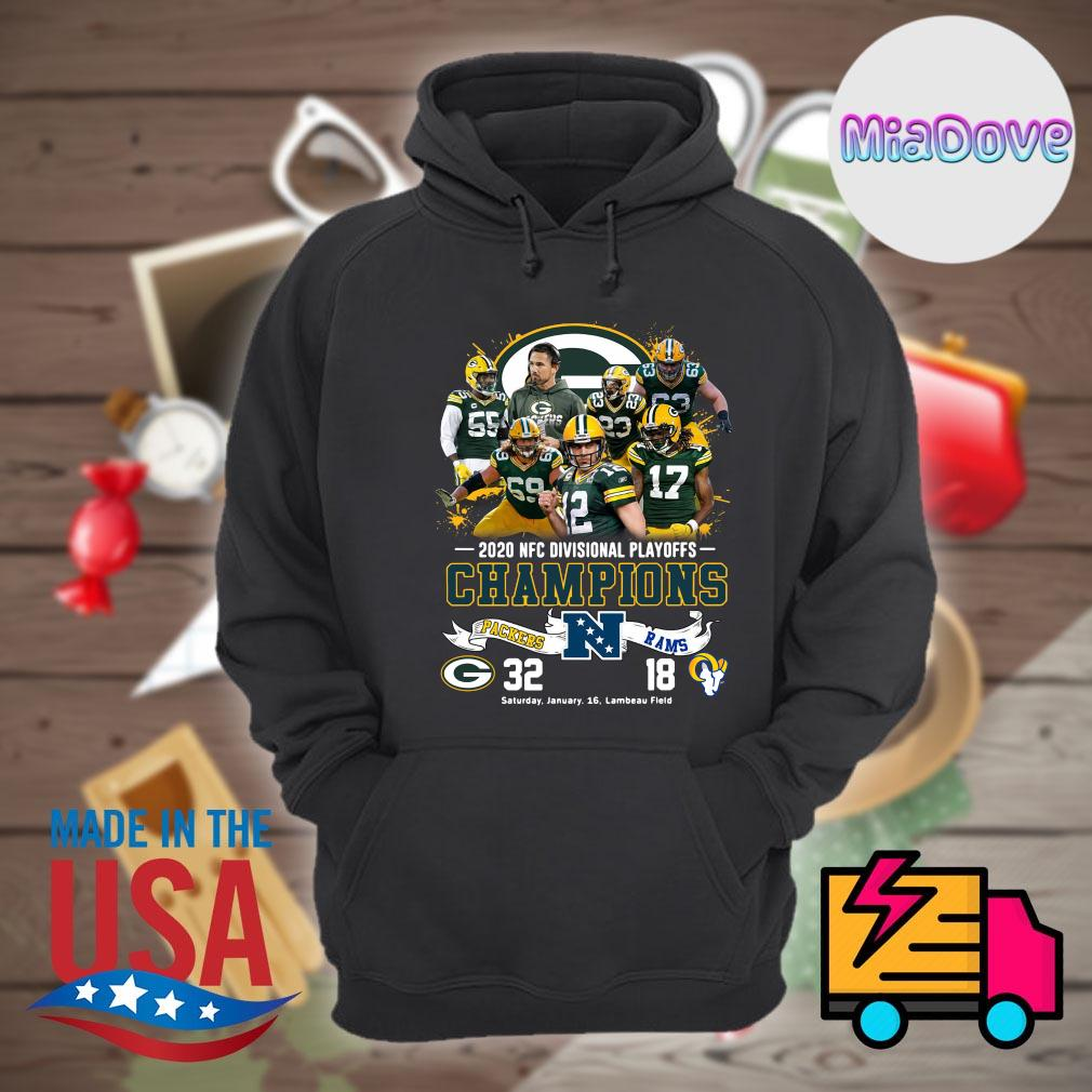 2020 NFC divisional playoffs Champions Packers 32 Rams 18 s Hoodie