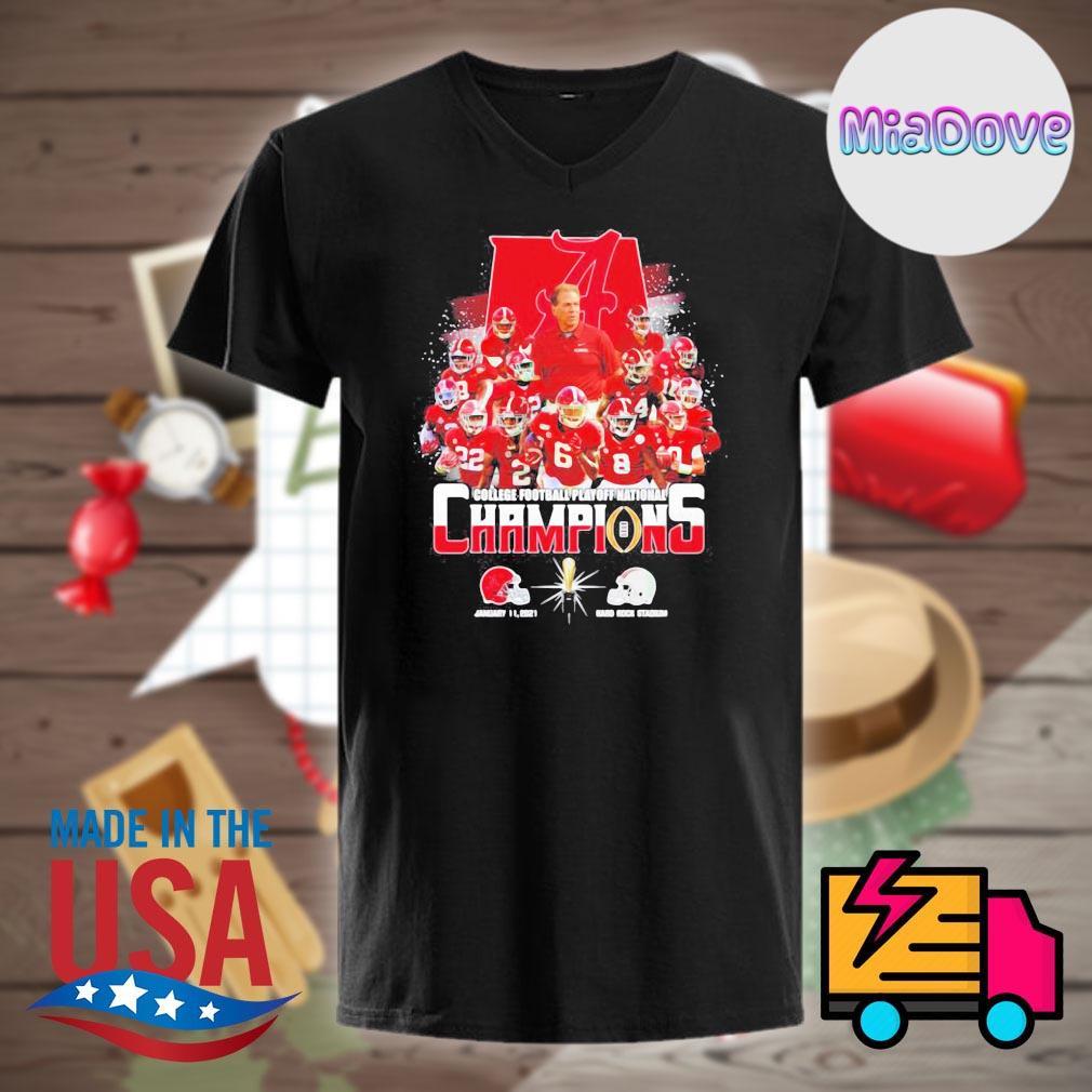 Alabama Crimson Tide players college football playoff National Champions 2021 52 24 Ohio State Hard Rock Stadium shirt