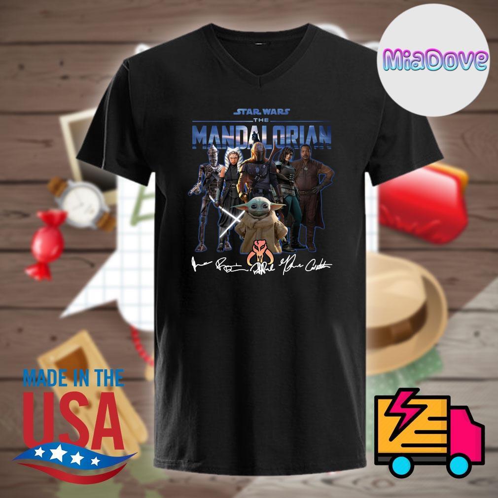 Star Wars characters the Mandalorian signatures shirt
