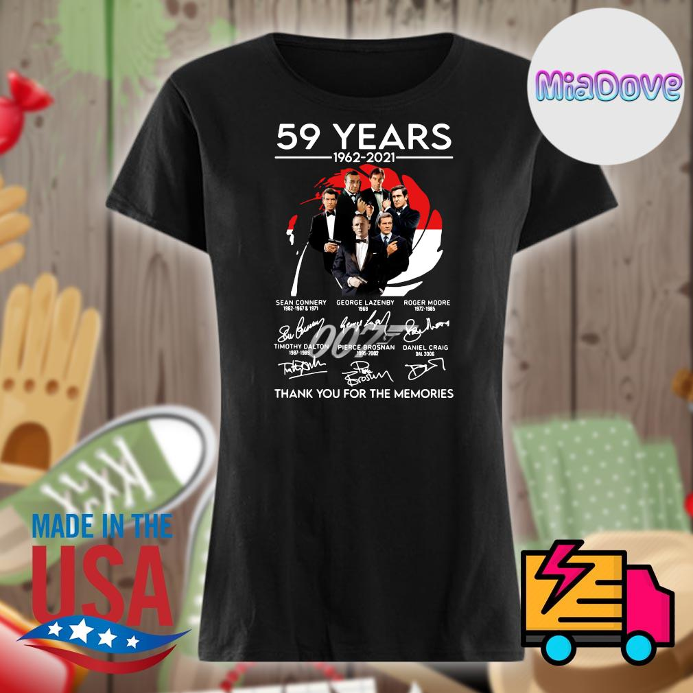 007 59 years 1962 2021 signatures thank you for the memories s V-neck