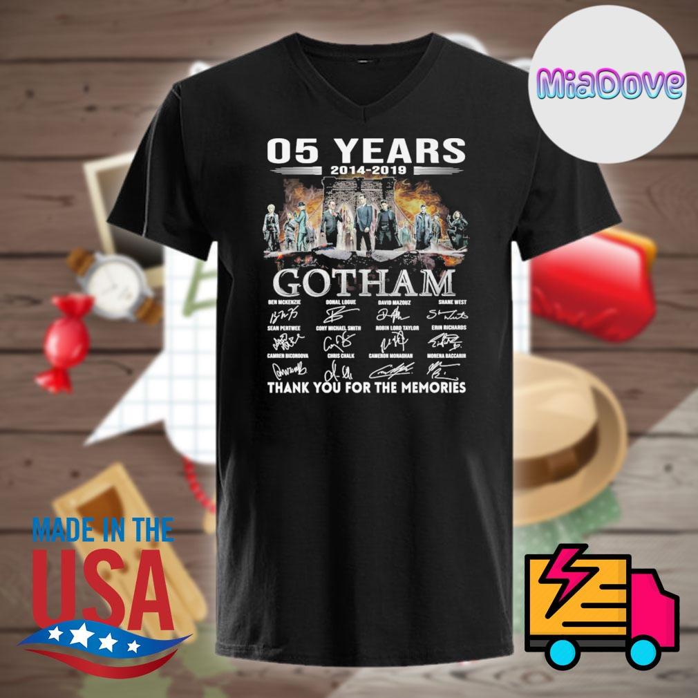 05 years 2014 2019 Gotham characters signatures thank you for the memories shirt