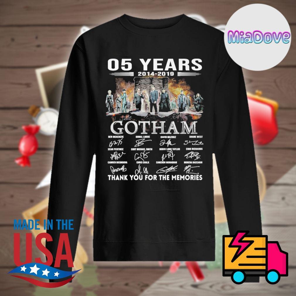 05 years 2014 2019 Gotham characters signatures thank you for the memories s Sweater