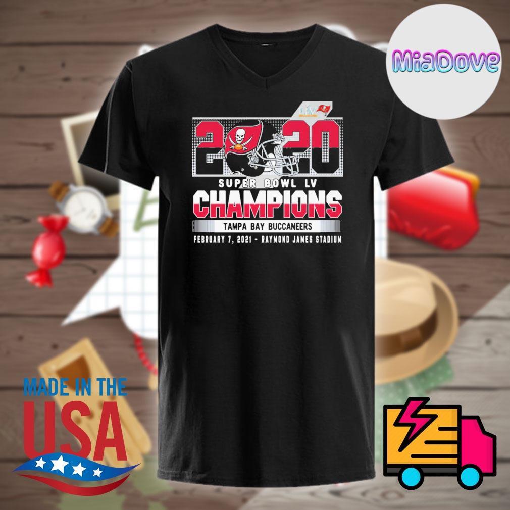 2020 super bowl Liv Champions Tampa Bay Buccaneers February 7 2021 Raymond James stadium shirt