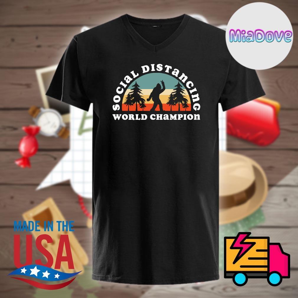 Bigfoot Social Distancing World Champion Vintage shirt
