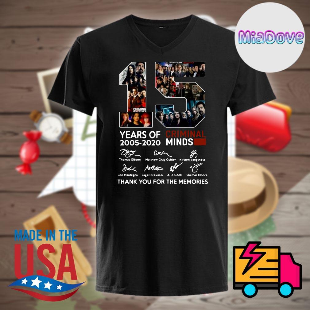 Criminal Minds 15th 2005-2020 Anniversary thank you for the memories shirt