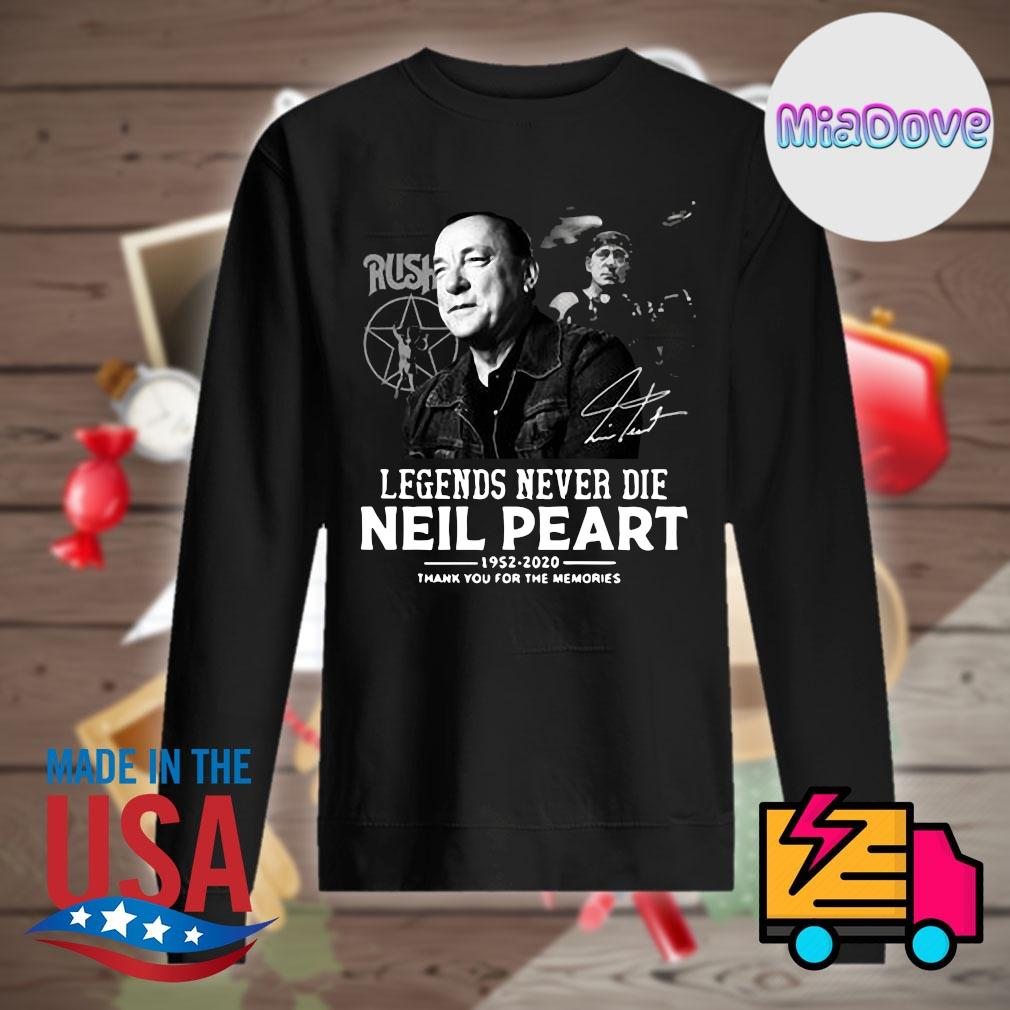 Legends never die Neil Peart 1952-2020 thank you for the memories s Sweater